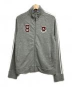 BURBERRY BLACK LABEL()の古着「ジップアップスウェットジャケット」 グレー