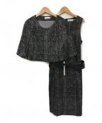 Calvin Klein(カルバンクライン)の古着「2ピースセットアップ」|ブラック