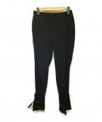 ADORE()の古着「モデレートジョーゼット裾ベルト付きパンツ」|ブラック