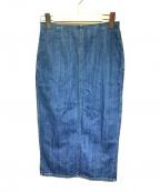 R.H.Vintage(ロンハーマン・ヴィンテージ)の古着「スリットタイトデニムスカート」 インディゴ