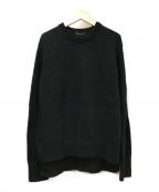 LAppartement(アパルトモン)の古着「クルーネックSlit Knit」|ブラック