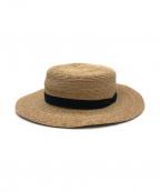 mature ha.(マチュアーハ)の古着「ラフィアカンカン帽」 ナチュラル