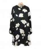 theory()の古着「Petal Silk Large Flared Dress」|ブラック