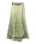 CASA FLINE(カーサフライン)の古着「インド綿フレアスカート」|ミント(MINT)