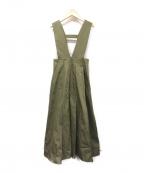 furfur(ファーファー)の古着「SUKEBANジャンパースカート」|オリーブ