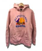 stussy()の古着「プルオーバーパーカー」 ピンク