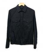 NEIL BARRETT(ニールバレット)の古着「ロングスリーブシャツジャケット」 ネイビー