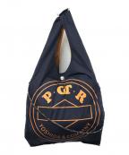PORTER()の古着「グロサリーバッグ」|ネイビー×オレンジ