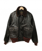 Buzz Ricksons()の古着「TYPE G-1レザーフライトジャケット」|ブラウン