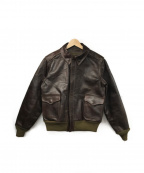 Buzz Ricksons()の古着「TYPE A-2レザーフライトジャケット」|ブラウン