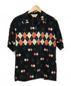 Star OF HOLLYWOOD(スターオブハリウッド)の古着「ハイディスティニーレーヨンシャツ」|ブラック