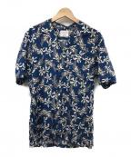 Brilla per il gusto(ブリッラ ペル イルグースト)の古着「フラワープリント オープンカラーシャツ」|ブルー