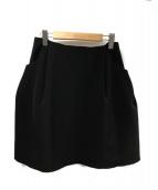 FOXEY NEWYORK(フォクシーニューヨーク)の古着「イリプスフレアスカート」 ブラック