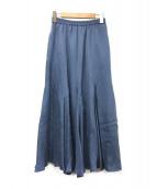 SLOBE IENA(スローブ イエナ)の古着「フィブリルサテンフレアスカート」 ブルー