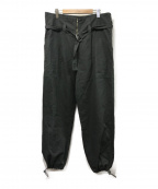 AEWEN MATOPH(イウエン マトフ)の古着「2ポケットハイウエストベルトパンツ」 ブラック