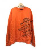 DIESEL()の古着「プリントスウェット」|オレンジ