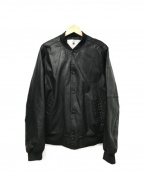G-STAR RAW()の古着「フェイクレザーボンバージャケット」|ブラック