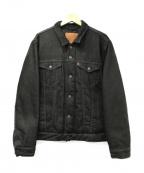 LEVIS()の古着「ダウンフルジップトラッカージャケット」|ブラック