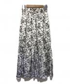 Apuweiser-riche()の古着「プリントティアードスカート」|ホワイト