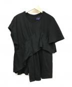 AKIRA NAKA(アキラナカ)の古着「アシンメトリーTシャツ」|ブラック