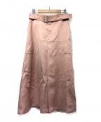 INED(イネド)の古着「モダンディテールスカート」 ピンク