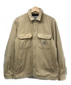 Carhartt WIP(カーハートダブリューアイピー)の古着「ウィットサムシャツジャケット」 ベージュ