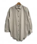 GALLARDA GALANTE(ガリャルダガランテ)の古着「エコスウェードシャツ」 グレー