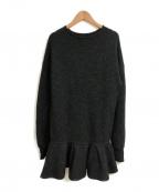 ELIN(エリン)の古着「Felt peplum po knit」|グレー