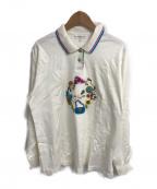 LEONARD SPORT(レオナールスポーツ)の古着「刺繍L/Sポロシャツ」|ホワイト