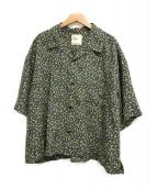 ()の古着「レモンアロハシャツ」|ブラック×イエロー