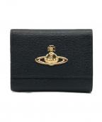 Vivienne Westwood(ヴィヴィアンウエストウッド)の古着「オーブがま口折り財布」|ブラック