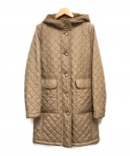 MACKINTOSH LONDON(マッキントッシュ ロンドン)の古着「GRANGEキルティングフーデッドコート」 ベージュ
