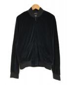 ()の古着「ベロアブルゾン」|ブラック