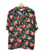 agnes b homme(アニエスベーオム)の古着「アロハシャツ」 グリーン×レッド
