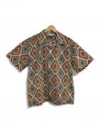 Star OF HOLLYWOOD(スターオブハリウッド)の古着「BROAD COTTON SHIRT」|オレンジ×グリーン