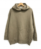 RIM.ARK(リムアーク)の古着「High neck knit hoodie」|ベージュ