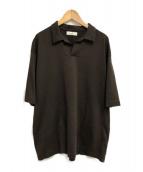 ()の古着「ジャージポロシャツ」|ブラウン