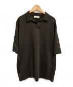 UNFIL(アンフィル)の古着「ジャージポロシャツ」|ブラウン