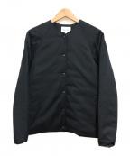 STEVEN ALAN(スティーブンアラン)の古着「ノーカラーダウンジャケット」|ネイビー