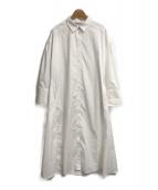 ()の古着「バックリボンシャツワンピース」 ホワイト