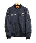 ()の古着「ボンディングL-2Bフライトジャケット」|ネイビー