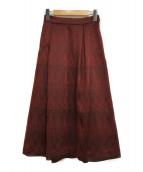 ()の古着「カラミキカスカート」|ブラック×レッド
