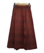 GRACE CONTINENTAL(グレースコンチネンタル)の古着「カラミキカスカート」 ブラック×レッド