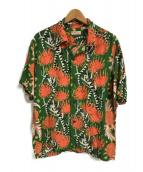 ()の古着「S/S RAYON HAWAIIAN SHIRT」|グリーン