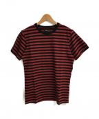 agnes b(アニエスベー)の古着「ボーダーTシャツ」|レッド×ブラック