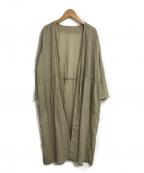 evam eva(エヴァムエヴァ)の古着「cotton voile robe」 ベージュ
