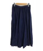 ()の古着「リネンギャザースカート」 インディゴ