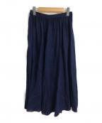 nest Robe(ネストローブ)の古着「リネンギャザースカート」|インディゴ