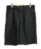 ()の古着「タックハーフパンツ」 ブラック