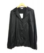 ()の古着「シルク混パジャマシャツ」|ブラック